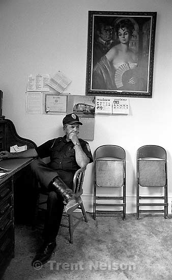 Eureka Police Chief Fullmer in his office.<br />