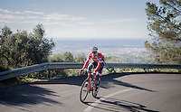 Jasper Stuyven (BEL/Trek-Segafredo) up the Puig de Randa<br /> <br /> Team Trek-Segafredo Training Camp <br /> january 2017, Mallorca/Spain