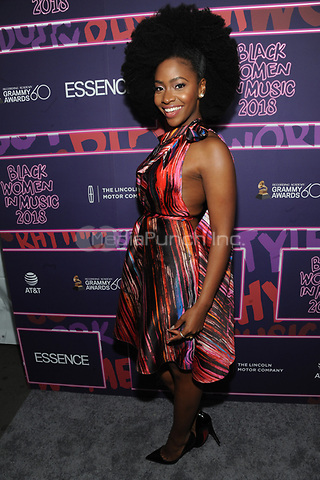 NEW YORK, NY - JANUARY 25: Teyonah Parris at the Essence 9th annual Black Women in Music event at the Highline Ballroom on January 25, 2018 in New York City. Credit: John Palmer/MediaPunch
