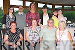 Kathleen and Joe Clarke Glencuttane, Kilgobnet, Beaufort who celebrated their 40th wedding anniversary in the Killarney Heights Hotel on Saturday night front row l-r: Joanna McAulliffe,  Kathleen and Joe Clarke, Mary Burke. Back row: Helena Murphy, Thomas ryan, Sandra Lucey, Sharon Clarke, Grainne and Alesha Fitzgerald