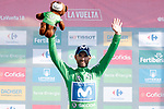Alejandro Valverde (ESP) Movistar Team retains the Green Jersey at the end of Stage 13 of the La Vuelta 2018, running 174.8km from Candas, Carreno to Valle de Sabero, La Camperona, Spain. 7th September 2018.<br /> Picture: Unipublic/Photogomezsport | Cyclefile<br /> <br /> <br /> All photos usage must carry mandatory copyright credit (&copy; Cyclefile | Unipublic/Photogomezsport)