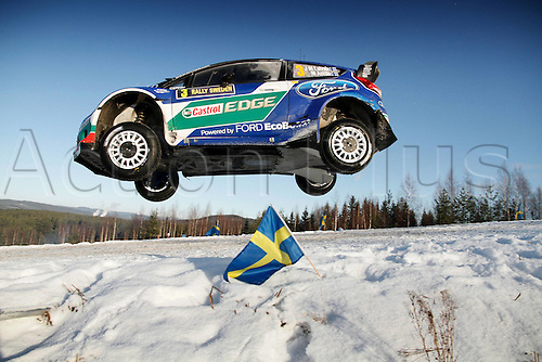 12.02.2012 Sweden.   Jari Matti Latvala Mikka Antilla Ford Fiesta WRC motor racing Rally World Cup Automobiles Rally of Sweden.