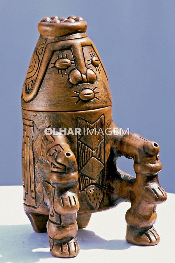 Objeto de cerâmica, artesanato paraense. Foto de João Caldas.