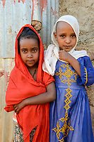 ETHIOPIA, Tigray, Shire, eritrean refugee camp May-Ayni managed by ARRA and UNHCR, eritrean children / AETHIOPIEN, Tigray, Shire, Fluechtlingslager May-Ayni fuer eritreische Fluechtlinge, eritraeische Kinder