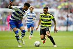 Nahki Wells of Huddersfield Town takes on Tiago Ilori of Reading during the SkyBet Championship Play Off Final match at the Wembley Stadium, England. Picture date: May 29th, 2017.Picture credit should read: Matt McNulty/Sportimage