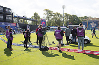 The Sky team preparing for broadcast at Sohia Gardens before England vs Bangladesh, ICC World Cup Cricket at Sophia Gardens Cardiff on 8th June 2019
