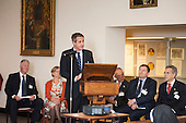 Simon Loomes, Vice Chair, Edgware Road Partnership, speaks at Tyburn Convent.  Restoration of the Tyburn Tree Plaque at the junction of Edgware Road and Marble Arch, London.