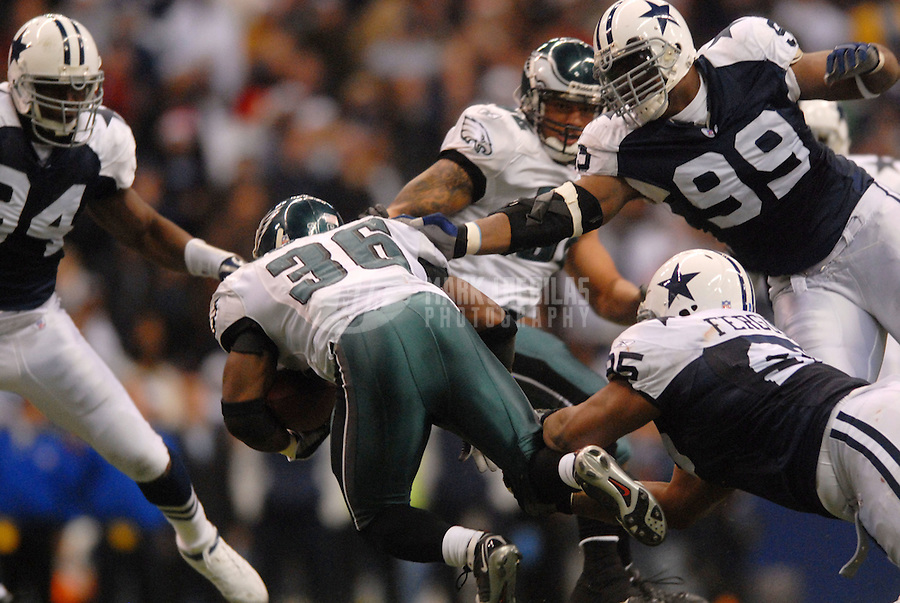 Dec. 25, 2006; Irving, TX, USA; Philadelphia Eagles running back (36) Brian Westbrook against the Dallas Cowboys at Texas Stadium in Irving, Texas. Philadelphia defeated Dallas 23-7. Mandatory Credit: Mark J. Rebilas-US PRESSWIRE © 2006 Mark J. Rebilas