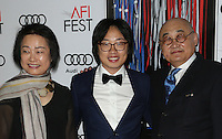 "17 November 2016 -  Hollywood, California - Jimmy O. Yang and Parents. AFI FEST 2016 - Closing Gala - Premiere Of ""Patriot's Day"" held at The TCL Chinese Theatre. Photo Credit: AdMedia"