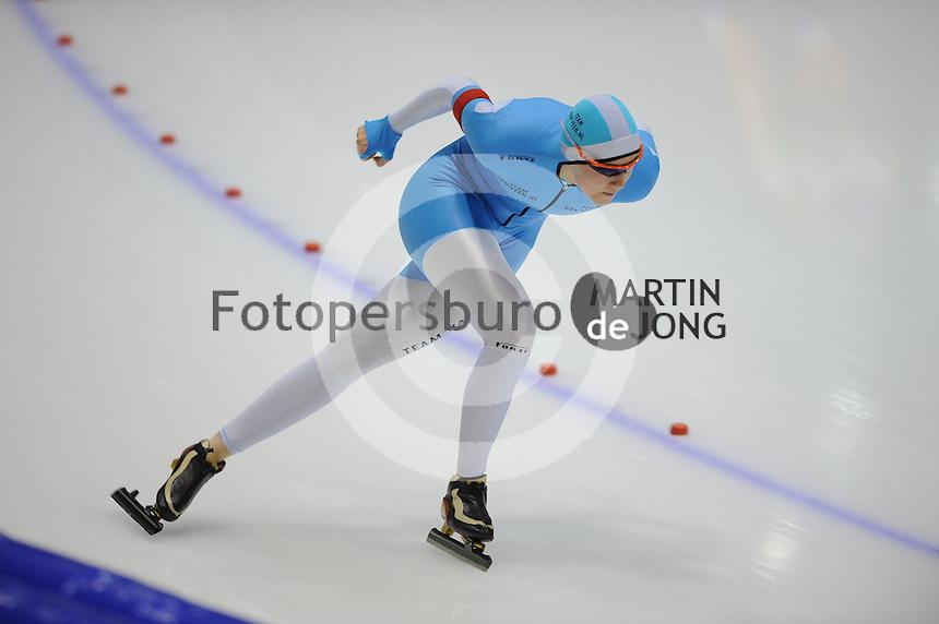SCHAATSEN: HEERENVEEN: IJsstadion Thialf, 13-10-2012, Trainingswedstrijd, Lotte van Beek, ©foto Martin de Jong