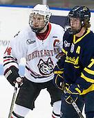 Tyler McNeely (Northeastern - 94), Karl Stollery (Merrimack - 7) - The visiting Merrimack College Warriors defeated the Northeastern University Huskies 4-3 (OT) on Friday, February 4, 2011, at Matthews Arena in Boston, Massachusetts.
