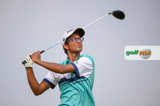 Kartik SHARMA (IND) watches his tee shot on 6 during Rd 3 of the Asia-Pacific Amateur Championship, Sentosa Golf Club, Singapore. 10/6/2018.<br /> Picture: Golffile   Ken Murray<br /> <br /> <br /> All photo usage must carry mandatory copyright credit (© Golffile   Ken Murray)
