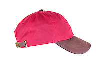 Hamilton Wax Leather Baseball Cap, Red / Brown.