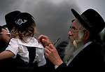 Israel, Upper Galilee, Halaka first haircut ceremony at Meron