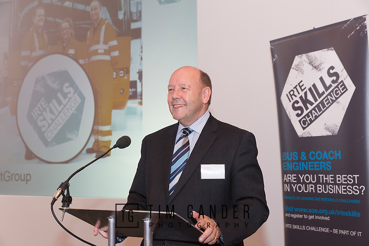 17/07/2015 The IRTE Skills Challenge 2015 prize-giving takes place at The National Motorcycle Museum, Birmingham. SOE president Gerry Fleming makes the introduction to the event.