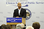Wes Moore talks to the Clinton School of Public Service Monday, May 10, 2010 in Little Rock, Arkansas. (Photo/Jacob Slaton)