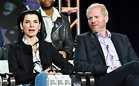 PASADENA, CA - FEBRUARY 10:  Julianna Margulies, Noah Emmerich attends the The Hot Zone panel at the 2019 National Geographic portion of the Television Critics Association Winter Press Tour at The Langham Huntington Hotel on February 10, 2019 in Pasadena, California. (Photo by Vince Bucci/National Geographic/PictureGroup)