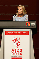 Professor Sharon Lewin the local Co-chair of the 20th International AIDS Conference (AIDS 2014) speaks at the opening session of the 20th International AIDS Conference at The Melbourne Convention and Exhibition Centre.<br /> For licensing of this image please go to http://demotix.com