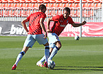 Atletico de Madrid's Yannick Carrasco (l) and Koke Resurreccion during training session. June 5,2020.(ALTERPHOTOS/Atletico de Madrid/Pool)