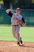 February 28, 2010:  Shortstop Josh Parr (9) of Illinois Fighting Illini during the Big East/Big 10 Challenge at Raymond Naimoli Complex in St. Petersburg, FL.  Photo By Mike Janes/Four Seam Images