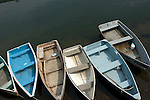 Dories at a pier in Rockport Massachusetts