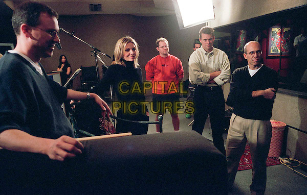 TIM JOHNSON; MICHELLE PFEIFFER; DAN WAGNER; director PATRICK GILMORE; and producer JEFFREY KATZENBERG at a recording for Sinbad: Legend Of The Seven Seas.Filmstill - Editorial Use Only.Ref: FB.sales@capitalpictures.com.www.capitalpictures.com.Supplied by Capital Pictures.