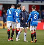 09.12.2018 Dundee v Rangers: Kenny Miller with Rangers players at FT