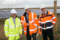 MP Alan Duncan with Head of Environment Martin Crow and Plant Manager Stewart Jones at Hanson Cement works, Ketton