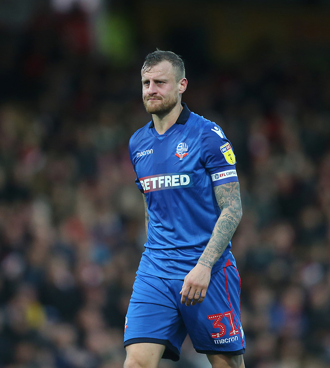 Bolton Wanderers' David Wheater<br /> <br /> Photographer Rob Newell/CameraSport<br /> <br /> The EFL Sky Bet Championship - Brentford v Bolton Wanderers - Saturday 22nd December 2018 - Griffin Park - Brentford<br /> <br /> World Copyright © 2018 CameraSport. All rights reserved. 43 Linden Ave. Countesthorpe. Leicester. England. LE8 5PG - Tel: +44 (0) 116 277 4147 - admin@camerasport.com - www.camerasport.com