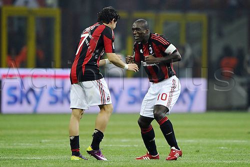 02 04 2011  Series A Milan Inter  Photo Celebrations for the  Goal  from Alexandre Pato and Clarence Seedorf