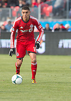 06 April 2013: Toronto FC midfielder Luis Silva #11 in action during an MLS game between FC Dallas and Toronto FC at BMO Field in Toronto, Ontario Canada..The game ended in a 2-2 draw..