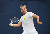 June 11th 2017, Nottingham, England; ATP Aegon Nottingham Open Tennis Tournament day 2;  Forehand from Lloyd Glasspool of Great Britain