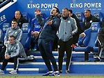 Chelsea manager Frank Lampard reacts during the Premier League match against Leicester City at the King Power Stadium, Leicester. Picture date: 1st February 2020. Picture credit should read: Darren Staples/Sportimage