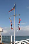 Flags at Malibu Pier