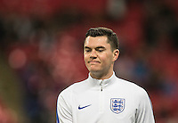 Michael Keane (Burnley) of England before the International Friendly match between England and Spain at Wembley Stadium, London, England on 15 November 2016. Photo by Andy Rowland.