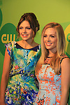 "All My Children's Natalie Hall  ""Colby Chandler""(R) and now on CW's Star-Crossed"" as ""Taylor"" poses with castmate Aimee Teegarden ""Emery""  at the CW Upfront on May 16, 2013 at London Hotel, New York City, New York. (Photo by Sue Coflin/Max Photos)"