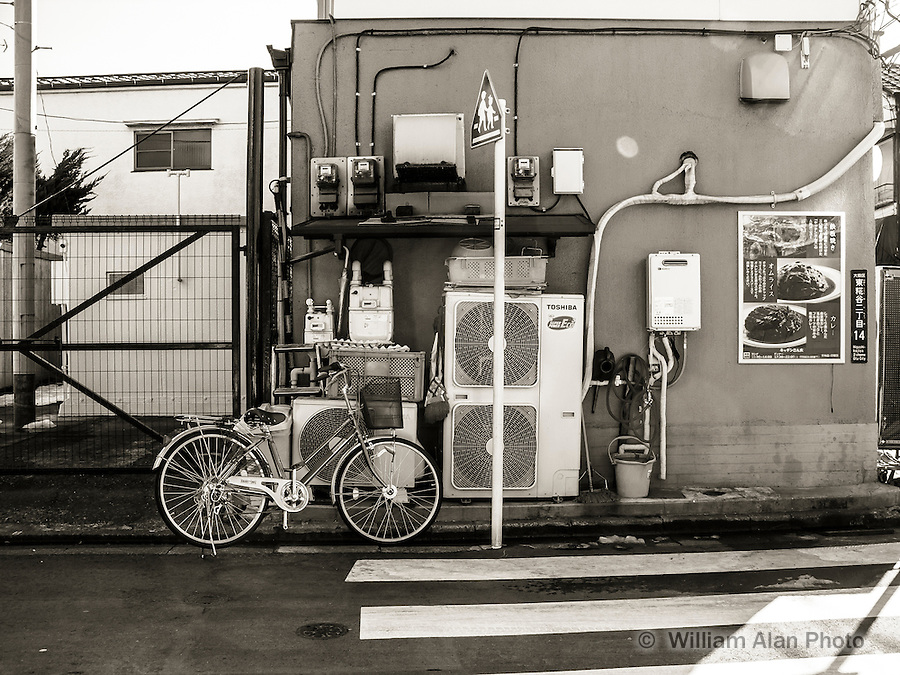 Bicycle and Building in Ota, Japan 2014.