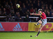3rd December 2017, Twickenham Stoop, London, England; Aviva Premiership rugby, Harlequins versus Saracens; James Lang of Harlequins converts Charlie Walker's try