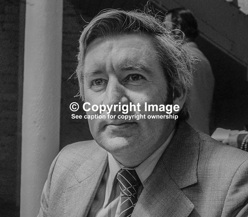 Eddie Collins, TD, Fine Gael, spokesman, education, March, 1978, 1978030166b<br />