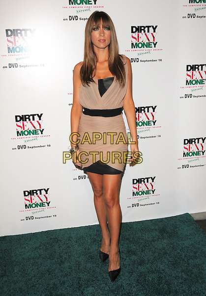 "NATALIE ZEA.""Dirty Sexy Money"" Season One DVD Premiere held at The Edison Downtown in Los Angeles, California, USA..September 8th, 2008.full length beige black dress belt                                                                      .CAP/DVS.©Debbie VanStory/Capital Pictures."
