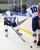Erik Haula (Finland - 12), Iiro Pakarinen (Finland - 10) - Russia defeated Finland 4-0 at the Urban Plains Center in Fargo, North Dakota, on Friday, April 17, 2009, in their semi-final match during the 2009 World Under 18 Championship.