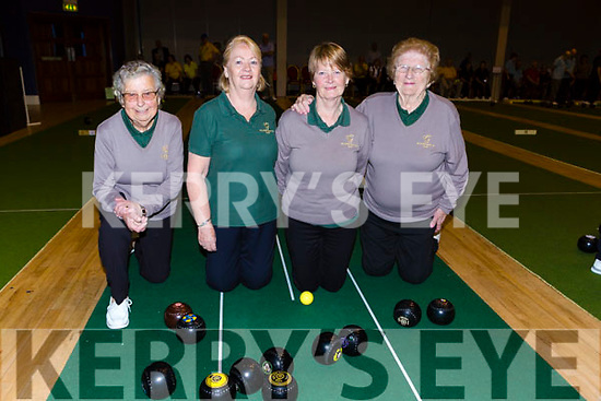 The Killarney team that played in the National Bowls finals in the INEC on Wednesday l-r: Bernie O'Leary, Dympna Doyle, Ailish Clifford and Susan Walsh