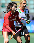 The Hague, Netherlands, June 13: Hyoju An #8 of Korea looks on during the field hockey placement match (Women - Place 7th/8th) between Korea and Germany on June 13, 2014 during the World Cup 2014 at Kyocera Stadium in The Hague, Netherlands. Final score 4-2 (2-0)  (Photo by Dirk Markgraf / www.265-images.com) *** Local caption ***