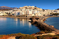 Naxos ( Chora ) town. Greek Cyclades Islands Greece