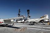 USA, California, San Diego, a few of the aircrafts which were carries on the USS Midway located at the USS Midway Museum