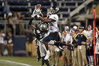 24 September 2016:  FIU wide receiver Thomas Owens (81) attempts to out jump UCF Defensive Back Shaquill Griffin (10) in the third quarter as the University of Central Florida Knights defeated the FIU Golden Panthers, 53-14, at FIU Stadium in Miami, Florida.