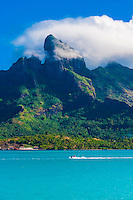 Mt. Otemanu, Bora Bora, French Polynesia.