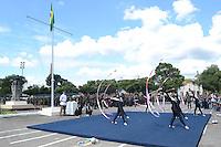 RIO DE JANEIRO, RJ, 15 AGOSTO 2012 - VISITA DA BANDEIRA OLIIMPICA A PRACA DOS CANHOES EM REALENGO- Cerimonia de hasteamento da Bandeira na Praca dos Canhoes em Realengo zona oeste Rio de Janeiro.(FOTO:MARCELO FONSECA / BRAZIL PHOTO PRESS).