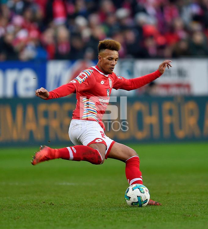 03.02.2018,  Football 1.Liga 2017/2018, 21. match day, 1.FSV Mainz - FC Bayern Muenchen, in Opel-Arena Mainz. Jean Philippe Gbamin (FSV Mainz 05) . *** Local Caption *** &copy; pixathlon<br /> <br /> +++ NED + SUI out !!! +++