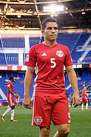 Harrison, NJ - Wednesday Aug. 03, 2016: Connor Lade during a CONCACAF Champions League match between the New York Red Bulls and Antigua at Red Bull Arena.